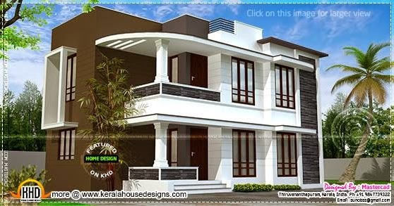 Modern 1500 house exterior kerala home design and for 1500 sq ft modern house