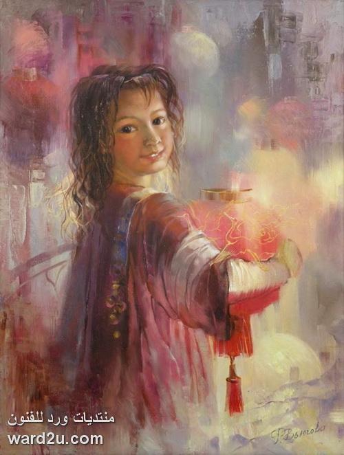 الوان حالمة فى تعبيرية الفنانة Rimma Vyugova