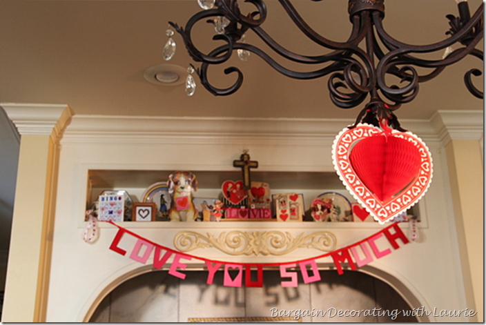 Valentine Decor in the Range Alcove
