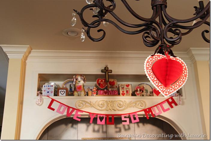 Valentine Decor in the Range Alcove