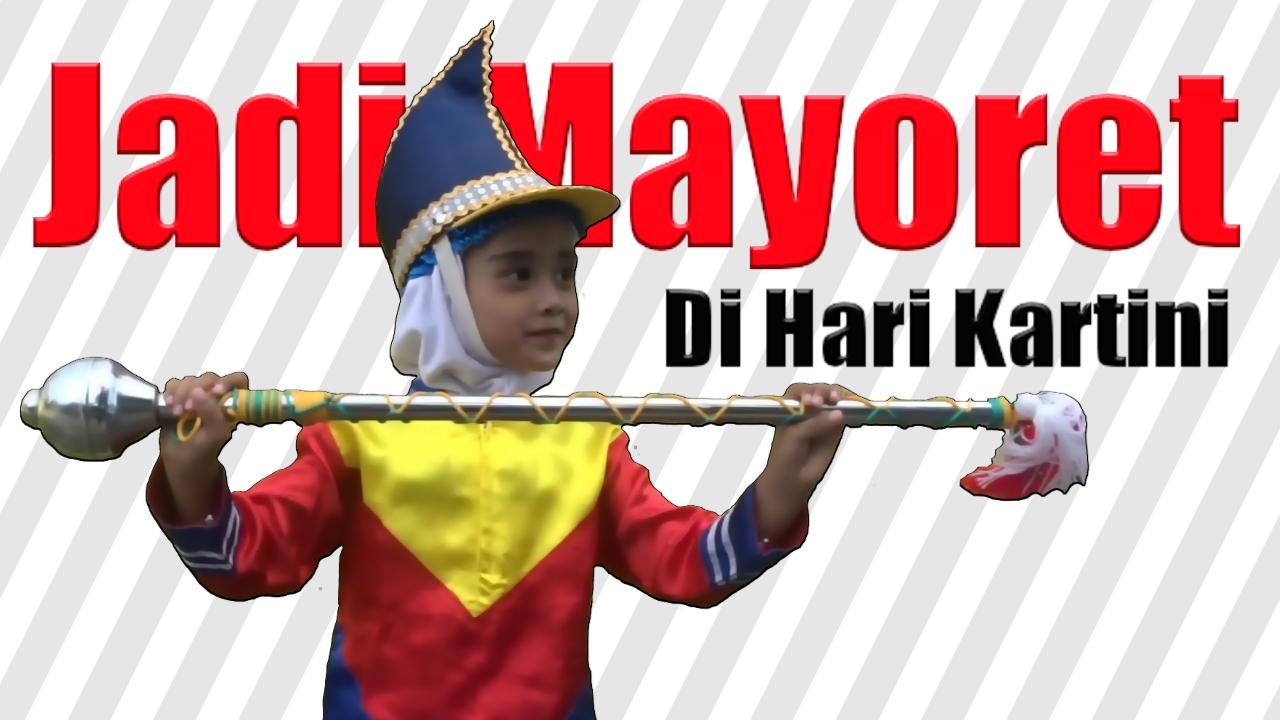 HARI KARTINI   Nafis Jadi Mayoret Marching Band Di Karnaval Hari Kartini  Bersama Teman Teman TK 227fe42aae