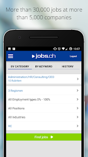 jobs.ch - Jobs in Switzerland- screenshot thumbnail