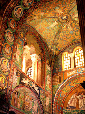 Mosaics in Basilica di San Vitale in Ravenna Italy
