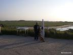"""Jörg und Finja beim geocachen, hier im Naturschutzgebiet """"Zwin"""""""