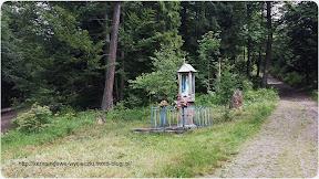 Na zdjęciu kapliczka na przełęczy Przysłopek (Przysłupek)