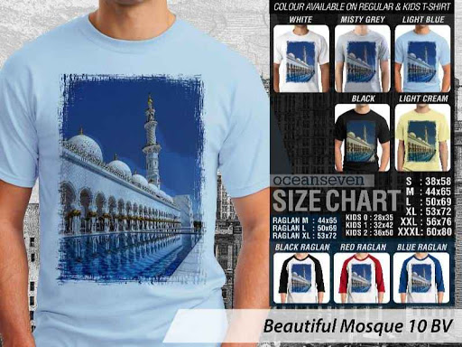 Kaos Muslim Islam Beautiful Mosque 10 distro ocean seven