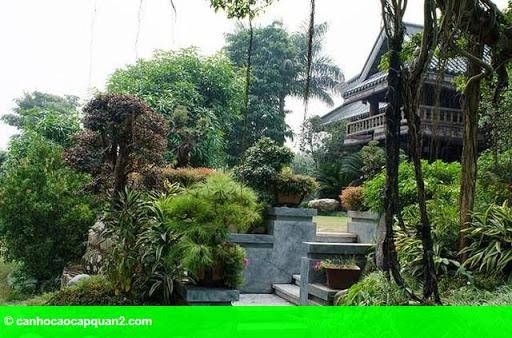 Hình 5: Tiểu cảnh đẹp mê ly trong sân vườn nhà sao Việt