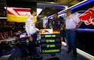 Sebastian Vettel team principal Christian Horner and Helmut Marko