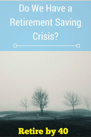 Do we have a retirement saving crisis?