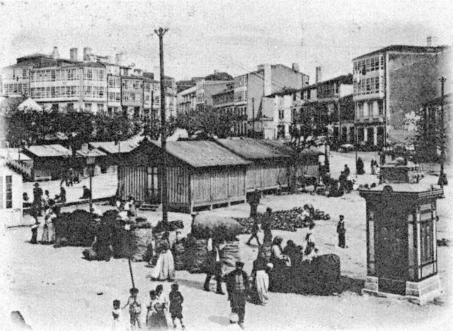 Primera década siglo XX. Campo de la Leña, actual Plaza de España