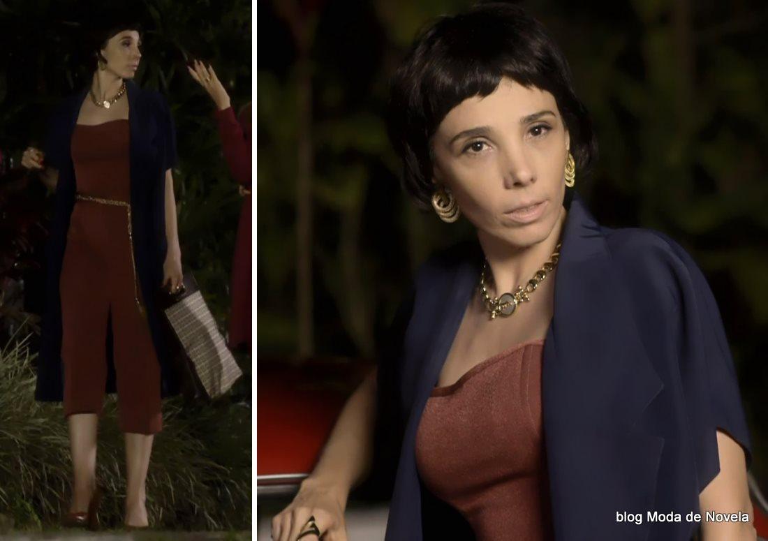 moda da novela Boogie Oogie - look da Leonor com macacão dia 5 de agosto