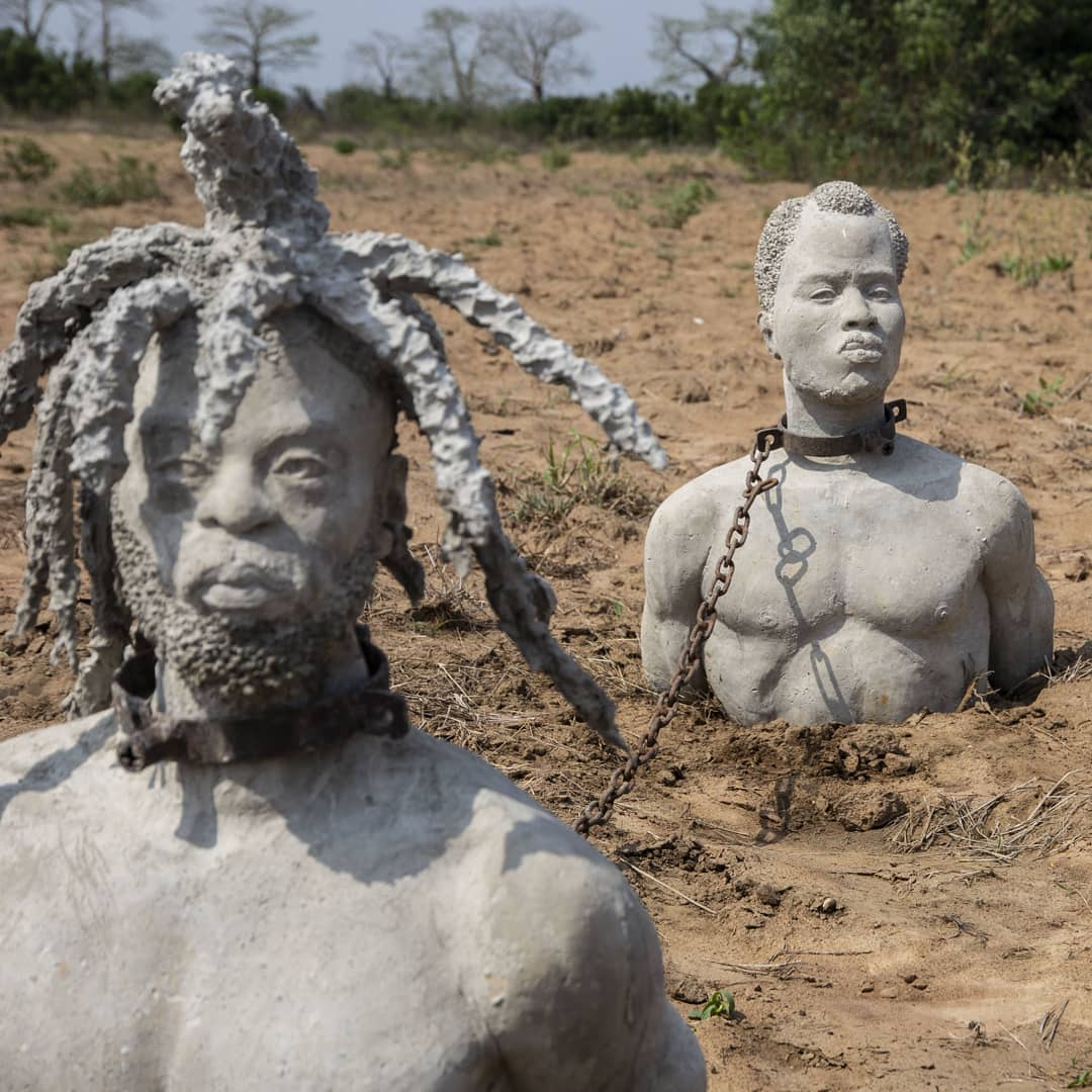 kwame akoto bamfo, ghana arts,african arts, arts, enslaved two, enslaved bbc two, samuel l jackson, ghanaian sculptor, portraits of africans, ghanaian arts,samuel l jackson and sculptor, samuel l jackson and kwame akoto bamfo,