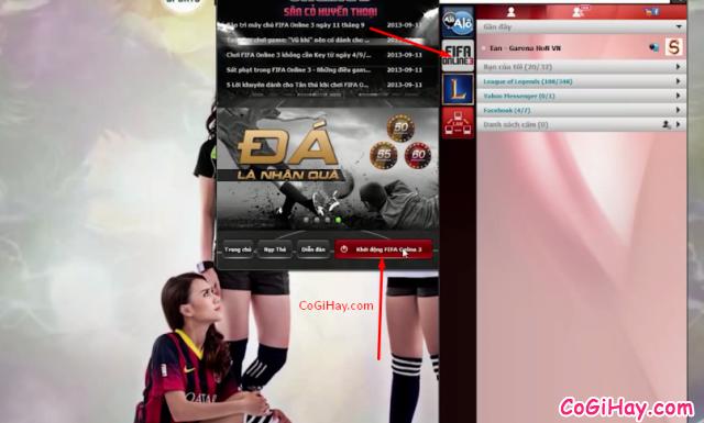 khởi động fifa online 3