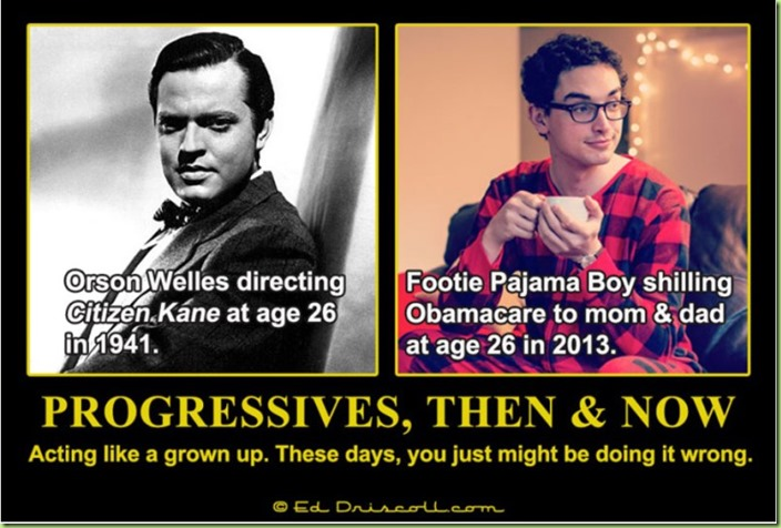 Progressives-Then-and-Now pajama boy