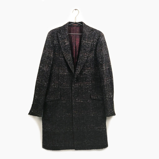 Etro Fiited Two-Button Alpacawool Check Overcoat