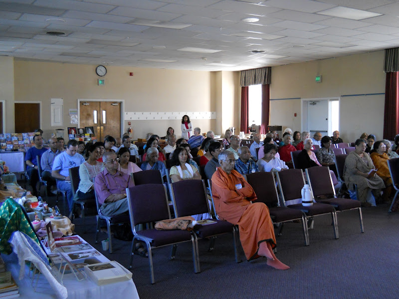 Retreatants paying rapt attention