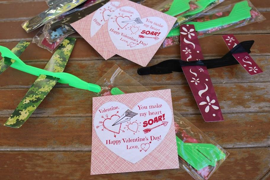 Glider and Toy Plane Valentines - Run DMT