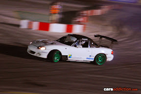 Keith Borg in his white Nissan Silvia