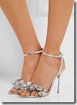 Sophia Webster silver leather appliqued sandals