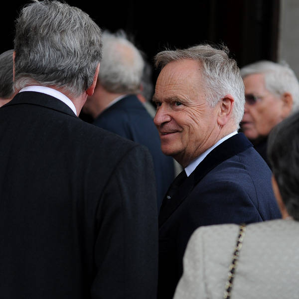 Jeffrey Archer during the memorial Service for Tony Greig, in London, on June 24, 2013.