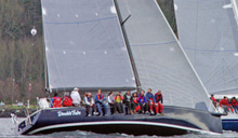 J/145 Double Take - racer cruiser sailboat- sailing Seattle series