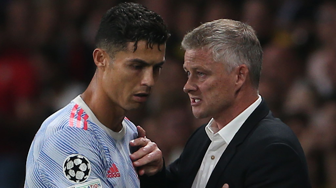 Solskjaer Explains Why He Took Off Ronaldo, Bruno Fernandes In Man United UCL Defeat To Young Boys