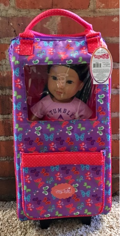 9532774cd9d I settled on starting with the My Life As Doll Carrier Bag because I  happened to be at Walmart with my ...
