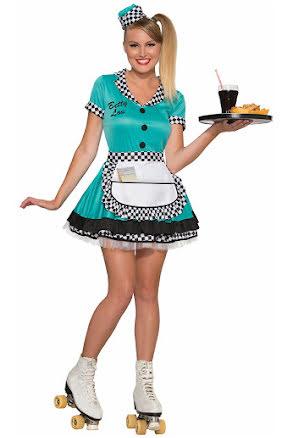 Dräkt servitris, 50-tal