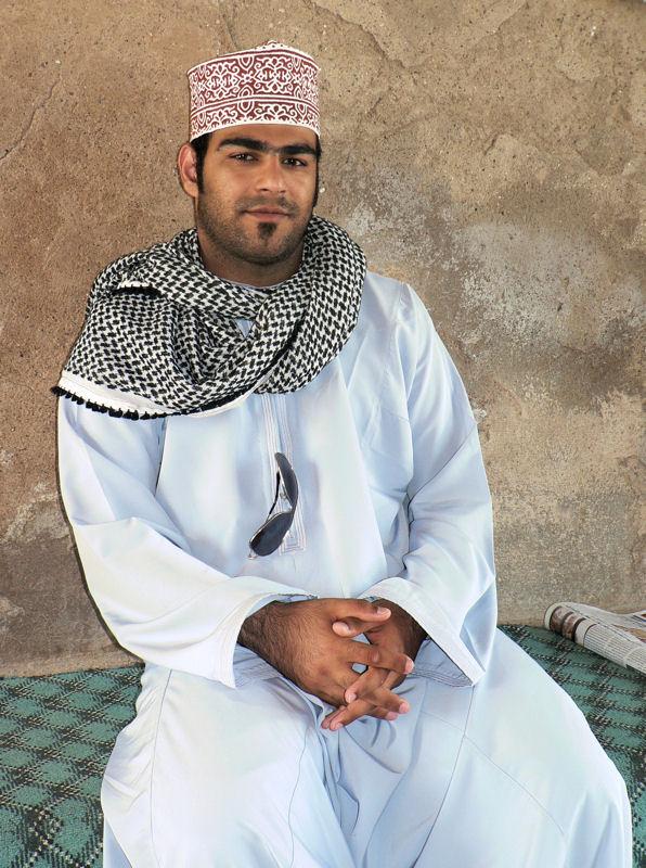 Oman -  man dressed in a dishdasha