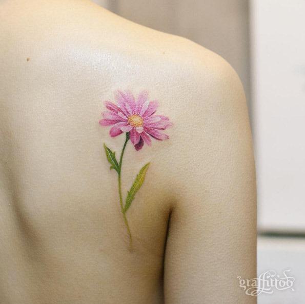 Esta volta do ombro de flores