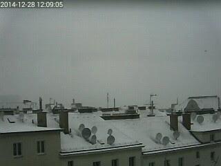 Aktuell Schneefall und ca 3cm Neuschnee in Wien-Favoriten bei -2.6 Grad #wetter #wien #favoriten