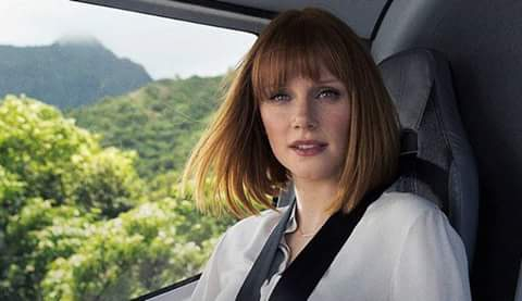 Bryce Dallas Howard in helicopter