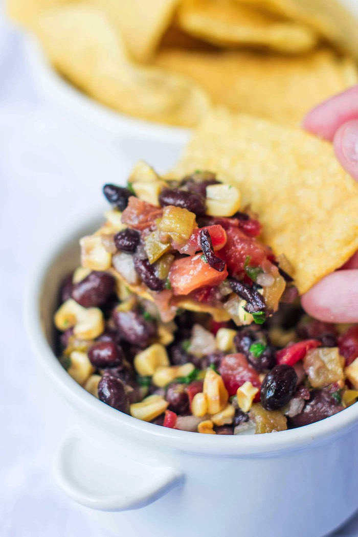 3 Pepper Black Bean and Corn Salad