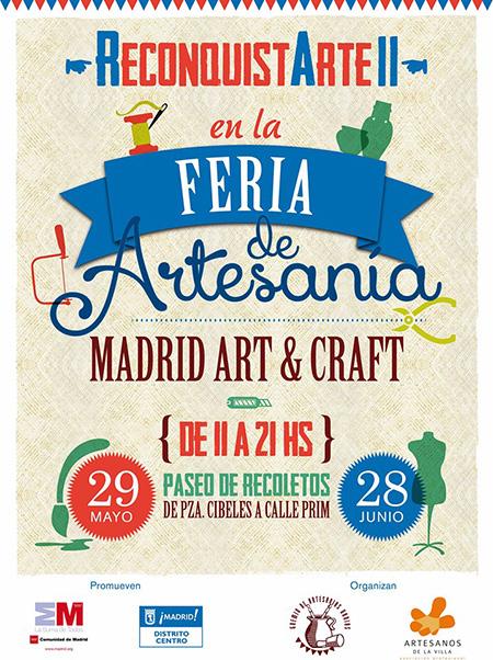 II Edición de la Feria de Artesanía Reconquistarte, en el Paseo de Recoletos