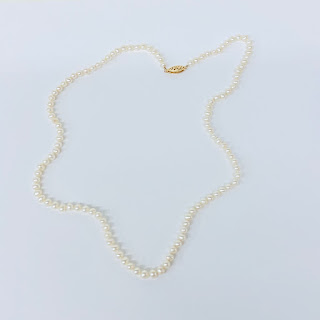 14K Gold-Clasped Pearl Necklace