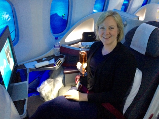 Best Business Class by Travel Bloggers - Qatar by What's Katie Doing?