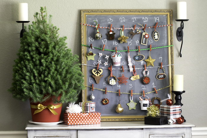 Chalkboard Ornament Advent Calendar  4 of 14