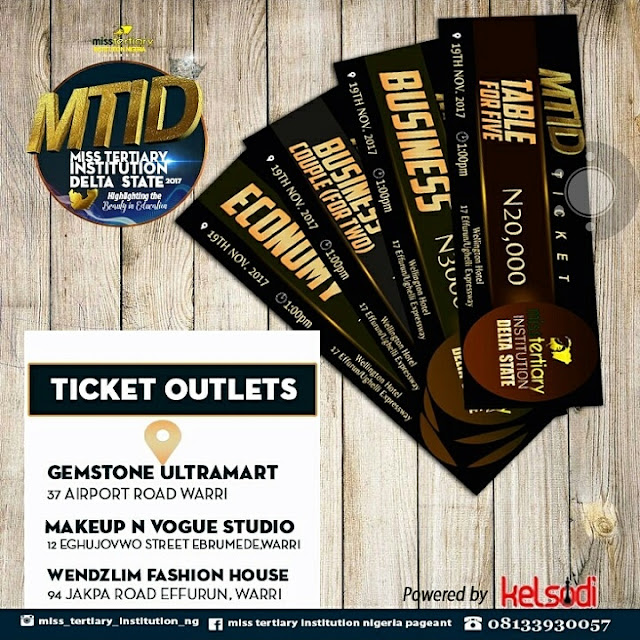 MISS TERTIARY INSTITUTION DELTA  TICKET SALES