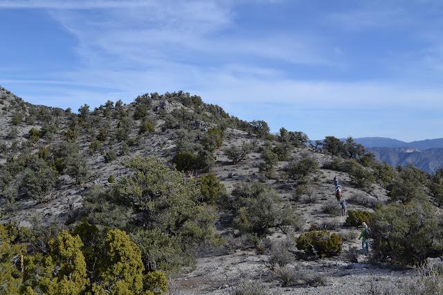 hikers ahead along the ridge