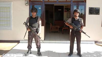 Ciptakan Kondusifitas Wilayah, Polsek Belitang Perketat Penjagaan Mako