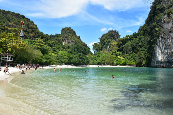 Swim in the secluded cove at Hong Island