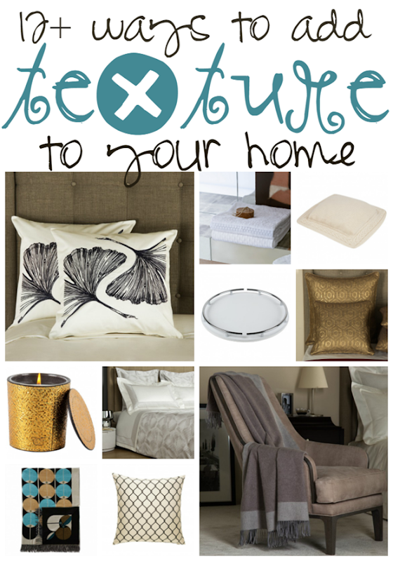 12  Ways to Add Texture to Your Home at GingerSnapCrafts.com #forthehome #homedecor