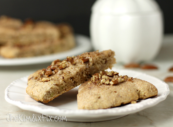 Maple glazed cinnamon pecan scones