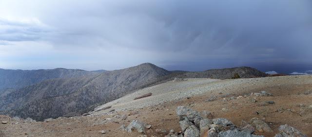 pine covered peak split off a bit