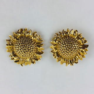 18 Kt. Gold Sunflower Clip-Ons