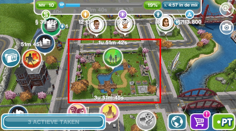 The Sims FreePlay park