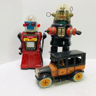 Vintage Mechanical Toy Set