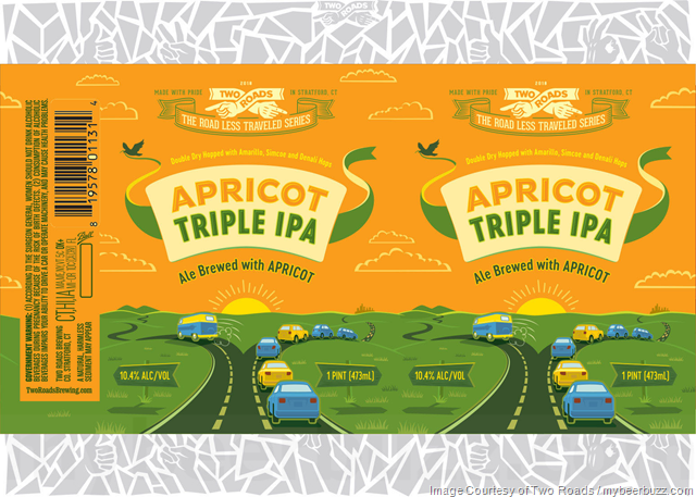 Two Roads Adding Apricot Triple IPA 16oz Cans