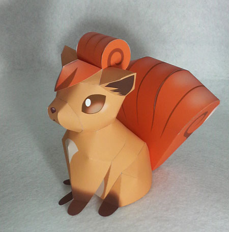 Pokemon Vulpix Papercraft