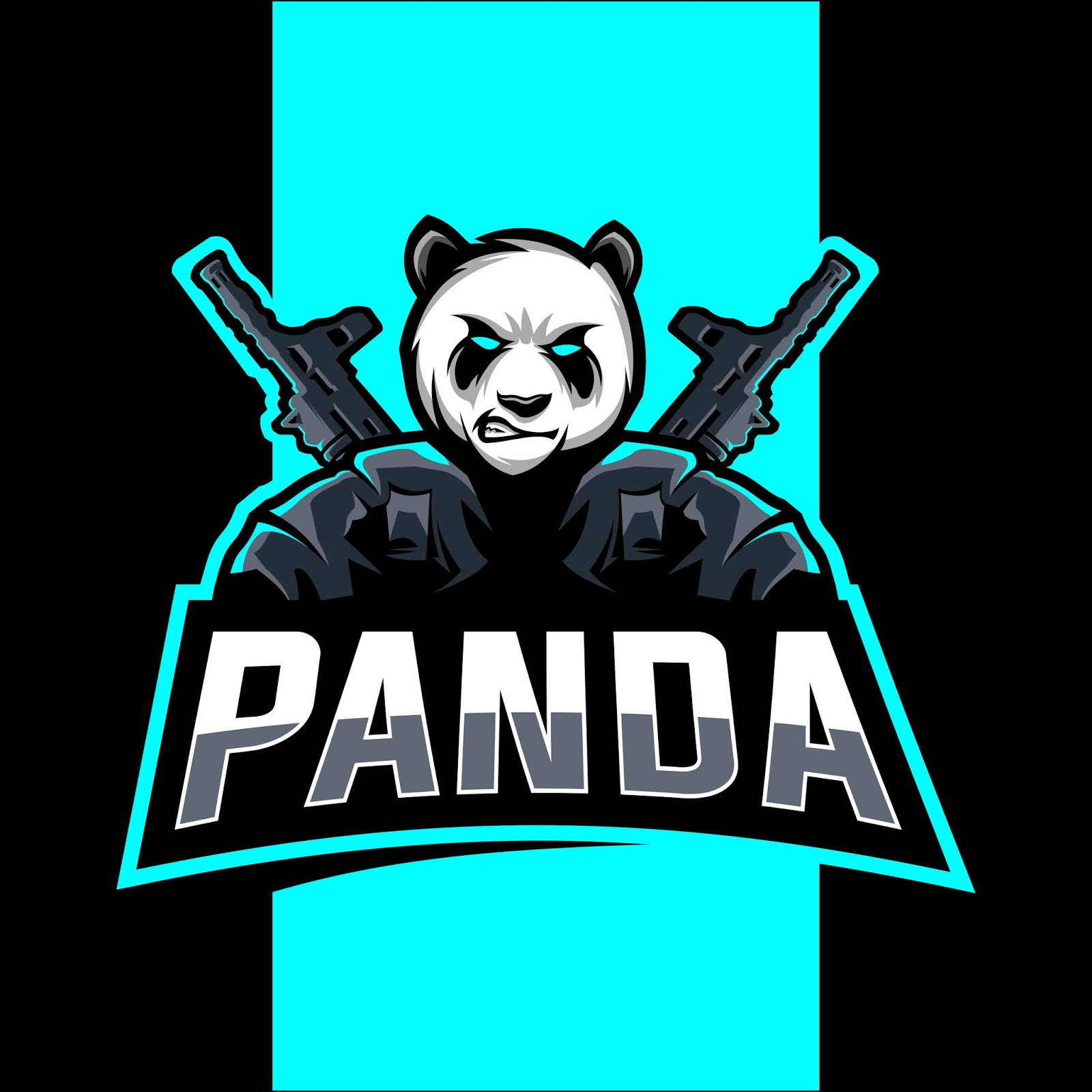 Panda Mascot Esport Logo Funny Free Download Vector CDR, AI, EPS and PNG Formats